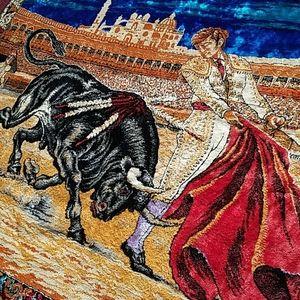 Vintage Matador Bullfighter Tapestry